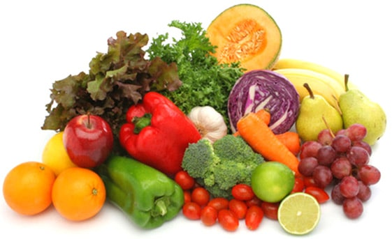 野菜や果物を中心とした食生活