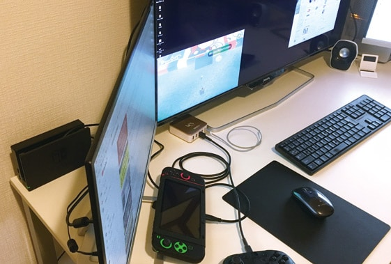 液晶モニターでニンテンドースイッチを接続