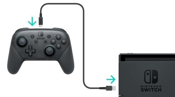 プロコントローラーとスイッチ本体の接続方法