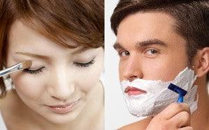 髭剃りやお化粧は肌に負担がかかる