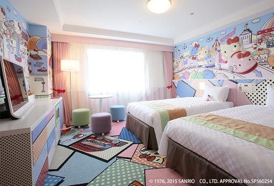 京王プラザホテル多摩「ハローキティルーム「KITTY TOWN」