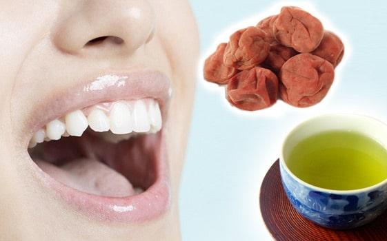 口臭予防に梅干し最強!お茶とセットでコスパ良すぎな口臭予防の理由