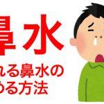 垂れる鼻水の止める方法!通勤や会社で困ってる人は絶対試すべき!