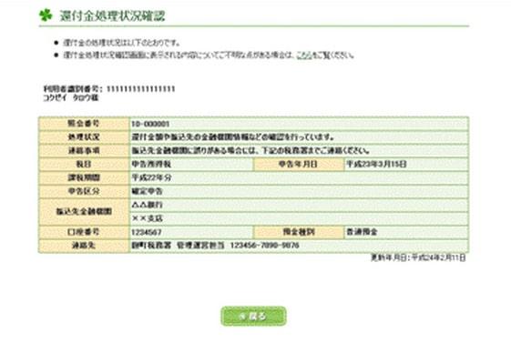 e-Taxによる電子申告の場合