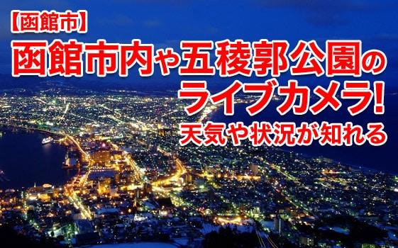 【函館ライブカメラ】函館市内や五稜郭公園をチェック!天気や状況が知れる!