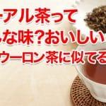プーアル茶ってどんな味?おいしいの?味はウーロン茶に似てるの?