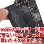 iPhoneSEのバッテリー交換は予約できないから自分で交換したら安くて驚いたその価格と交換方法とは?