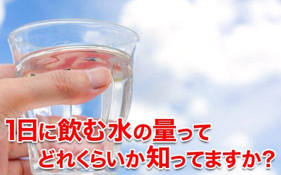 1日に飲む水の量ってどれくらい?